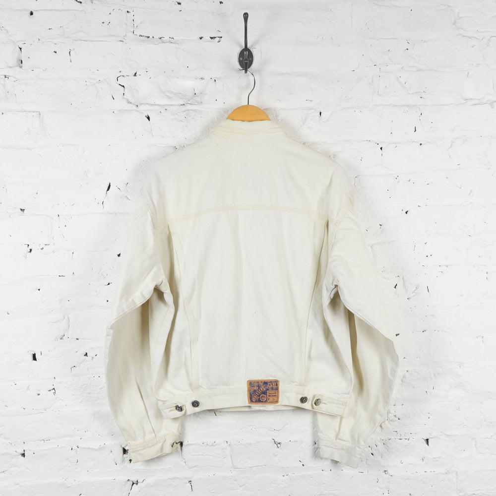 80s Denim Jacket - White - L