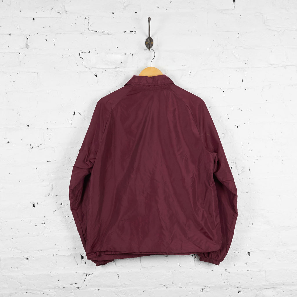 Vintage Collared Champion Jacket - Burgundy - M