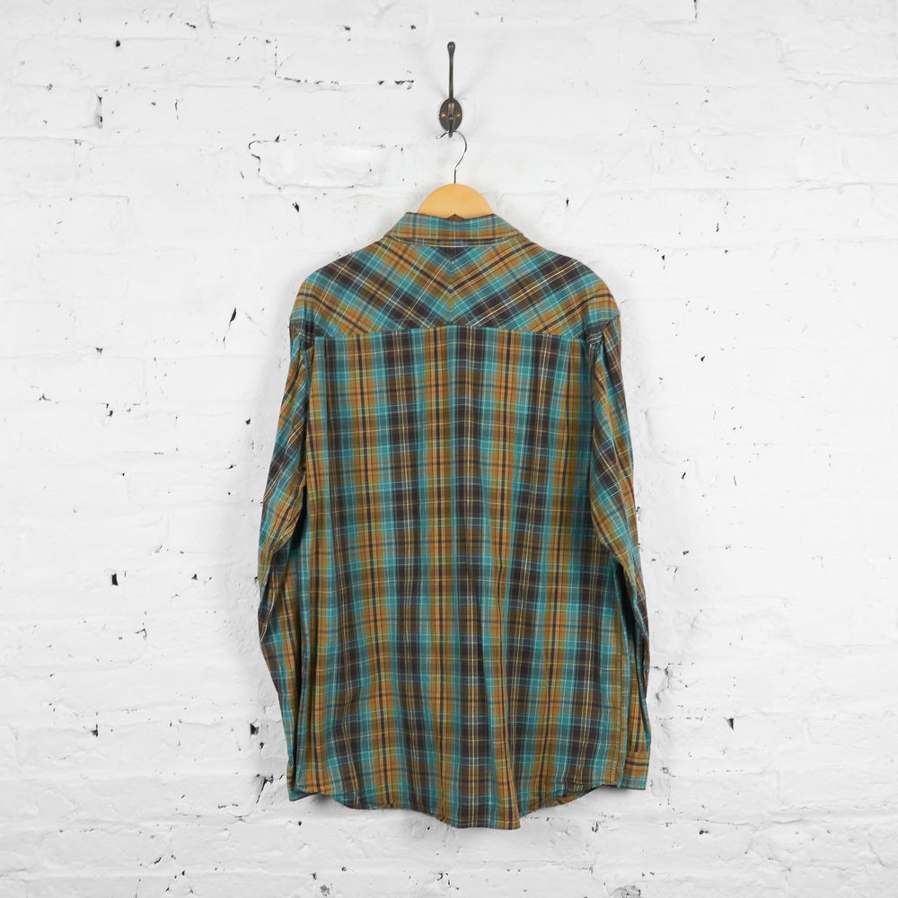 Vintage The North Face Flannel Shirt - Green - XL