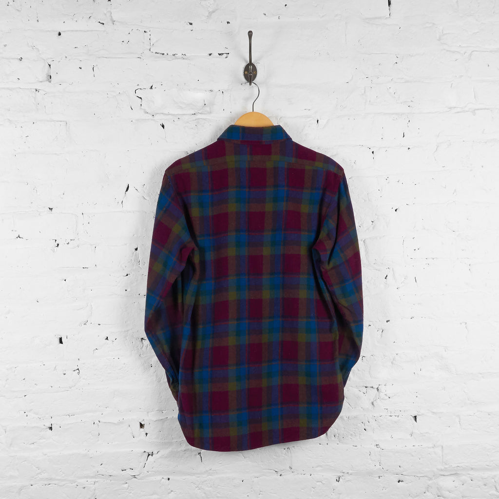 Vintage Pendleton Wool Flannel Shirt - Blue/Red - M