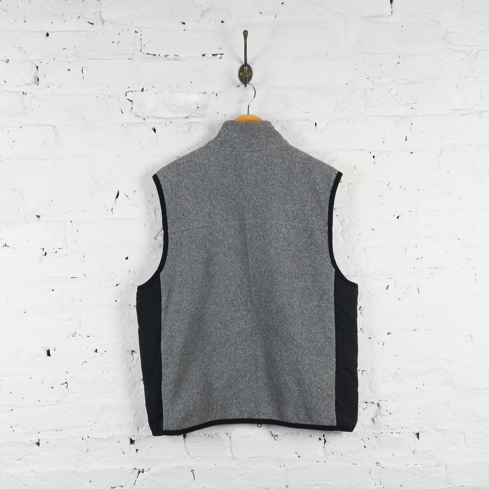 Vintage Tommy Hilfiger Sleeveless Fleece - Grey/Black - M