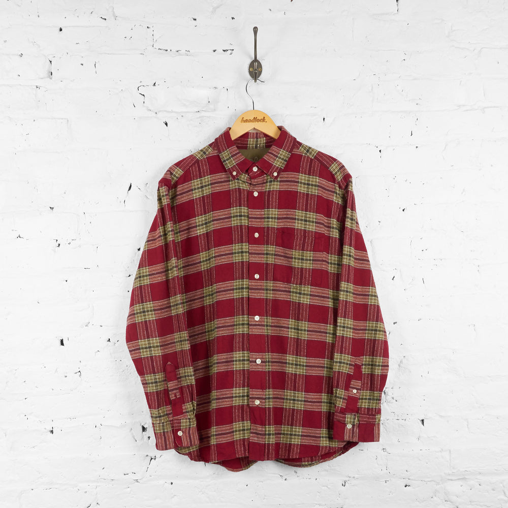 Vintage Old Navy Flannel Shirt - Red - L