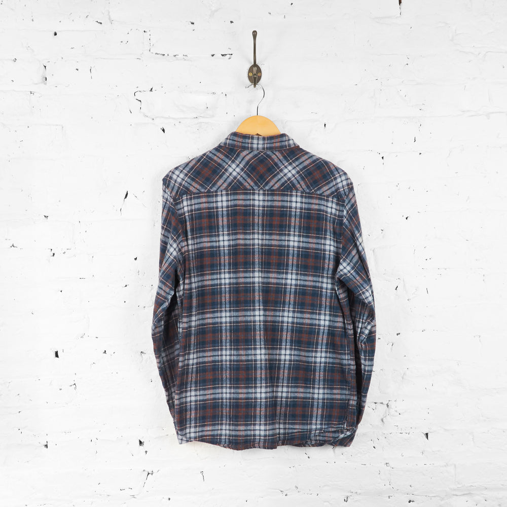 Vintage Dickies Flannel Shirt - Blue/Brown - L