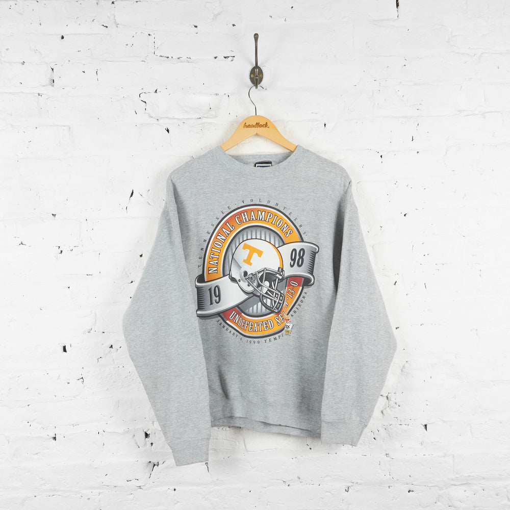 Vintage Tennessee Volunteers Champions Sweatshirt - Grey - L