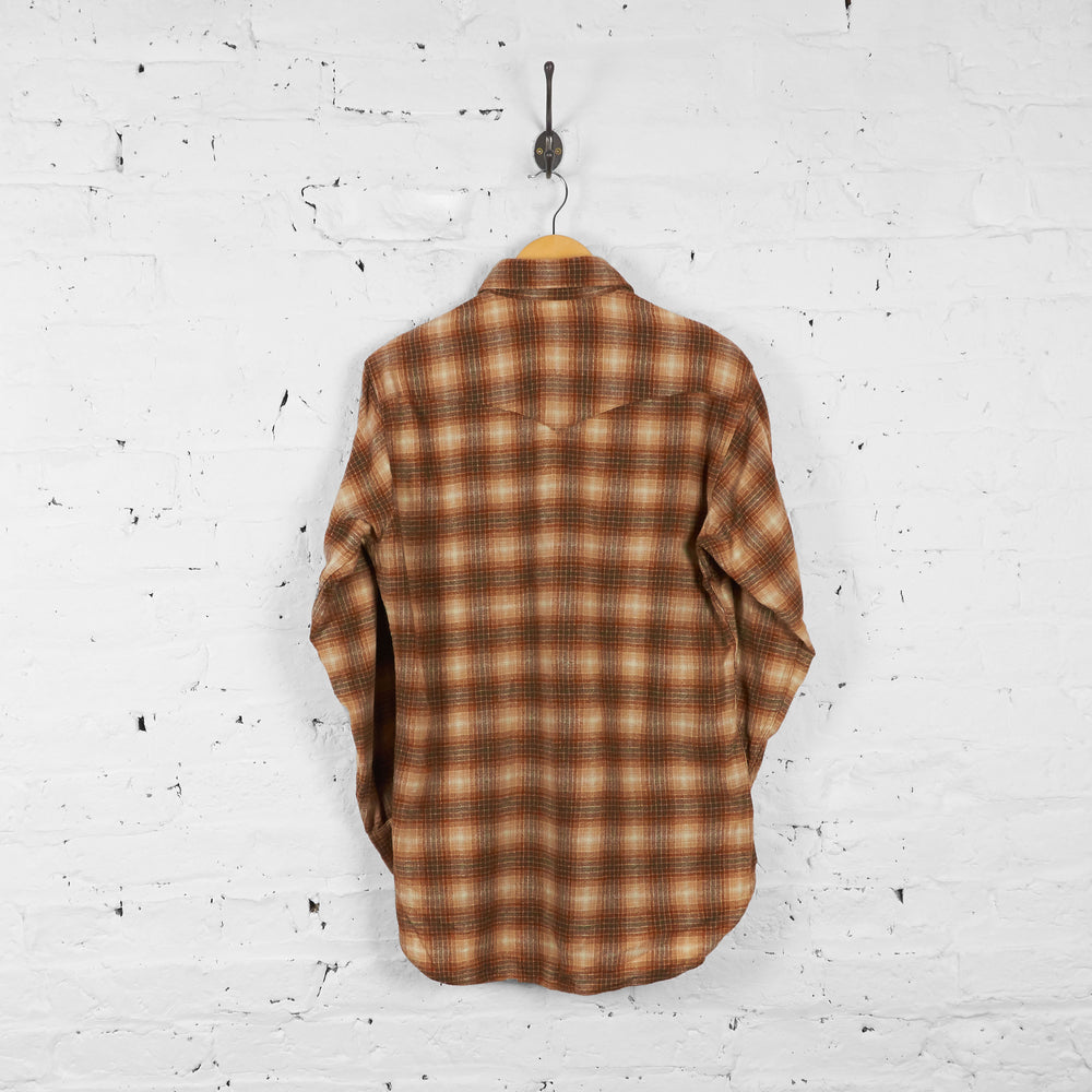 Vintage Pendleton Wool Flannel Shirt - Brown - M