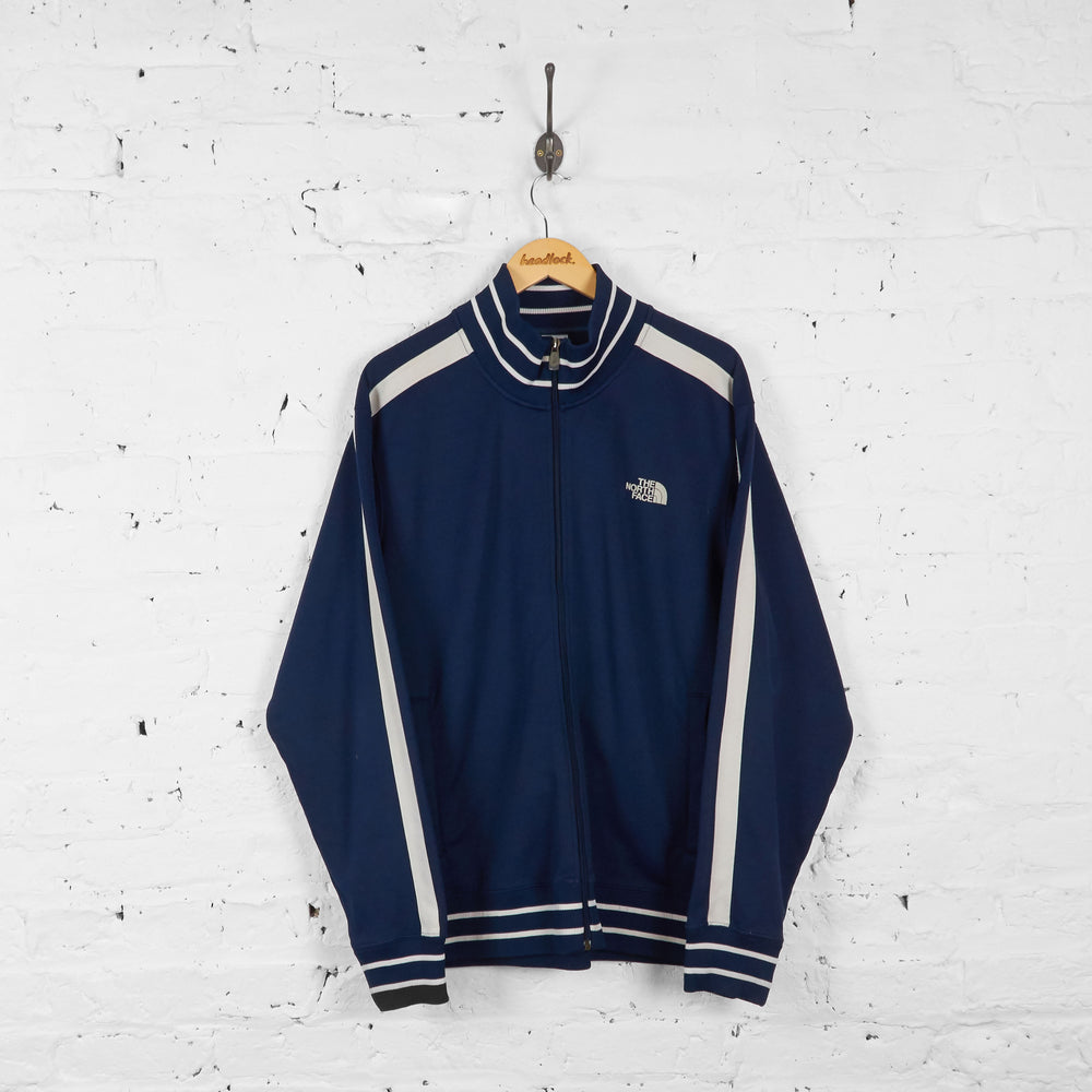 Vintage The North Face Tracksuit Top - Navy/White - XL
