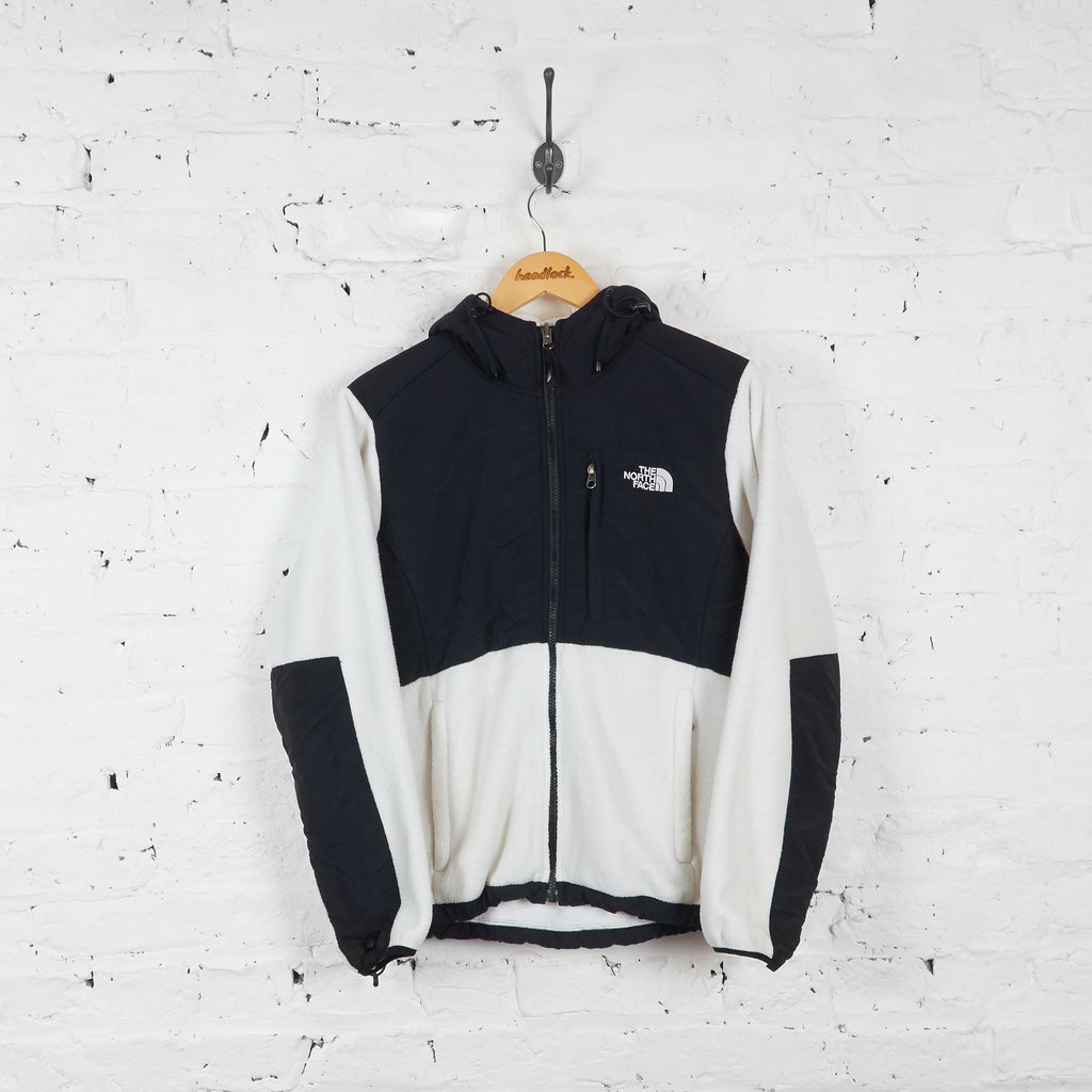 Vintage The North Face Denali Women's Fleece - White/Black - M