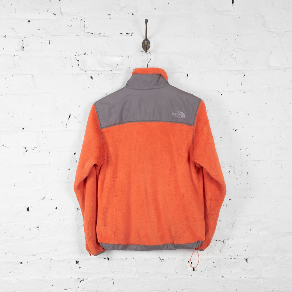 Vintage The North Face Denali Women's Fleece - Orange/Grey - S