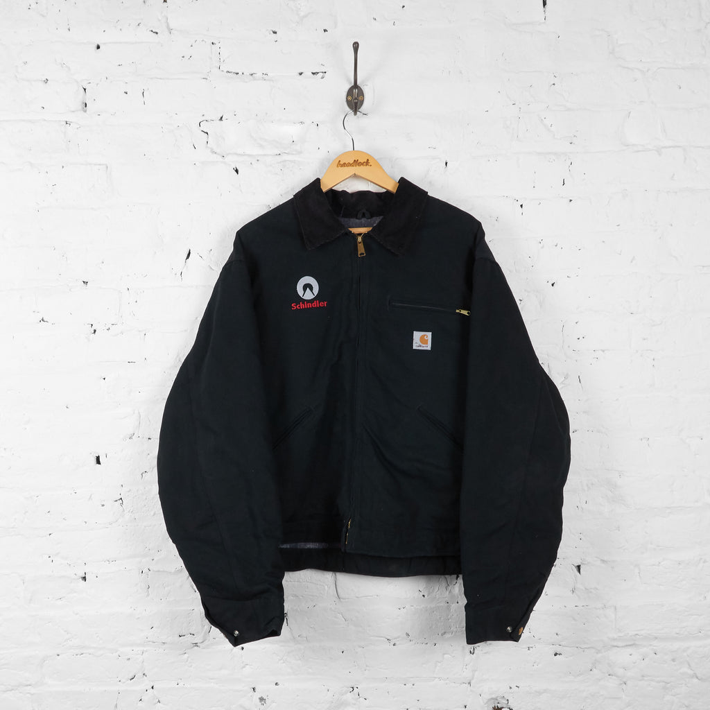 Vintage Collared Carhartt Jacket - Black - XL