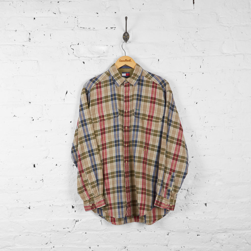 Vintage Tommy Hilfiger Checked Shirt - Green/Blue/Red - M