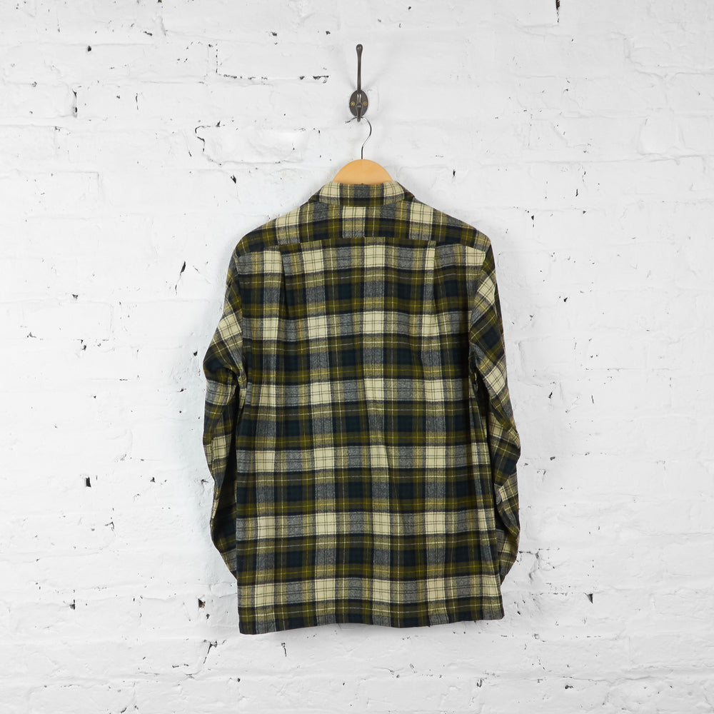 Vintage Pendleton Wool Checked Shirt - Green/Cream/Black - M