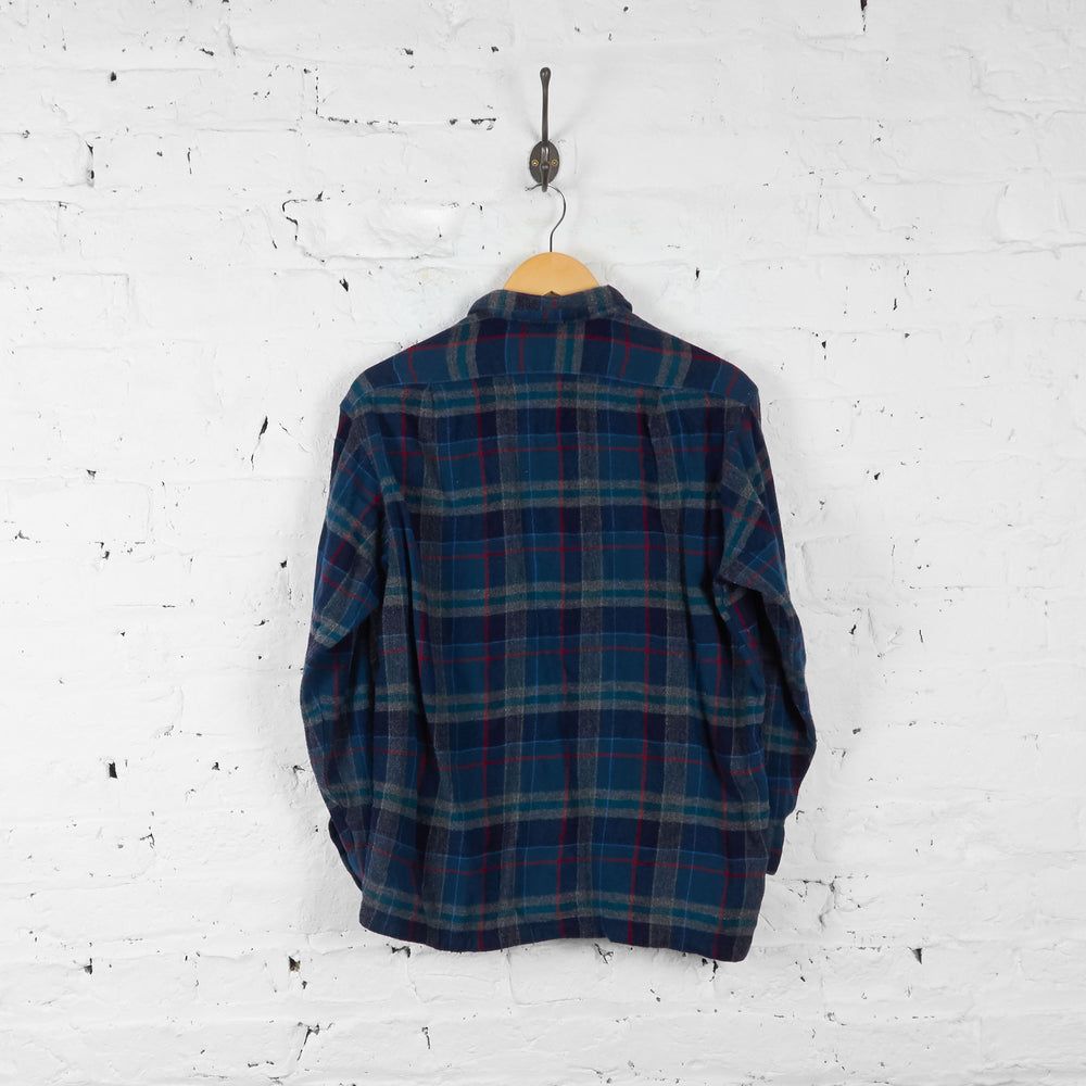 Vintage Pendleton Flannel Shirt - Green/Blue -  S