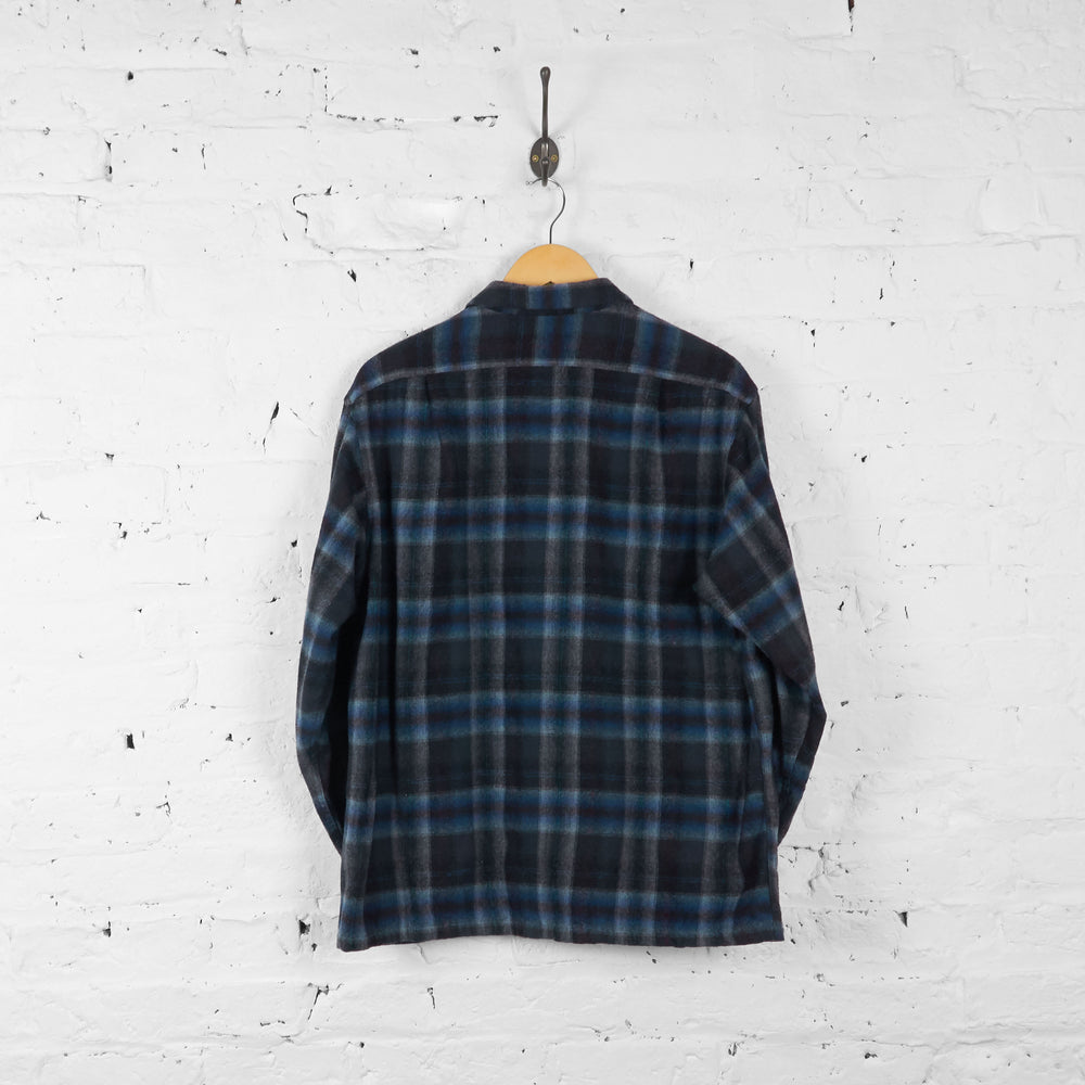 Vintage Pendleton Wool Checked Shirt - Grey/Black/Blue - XL