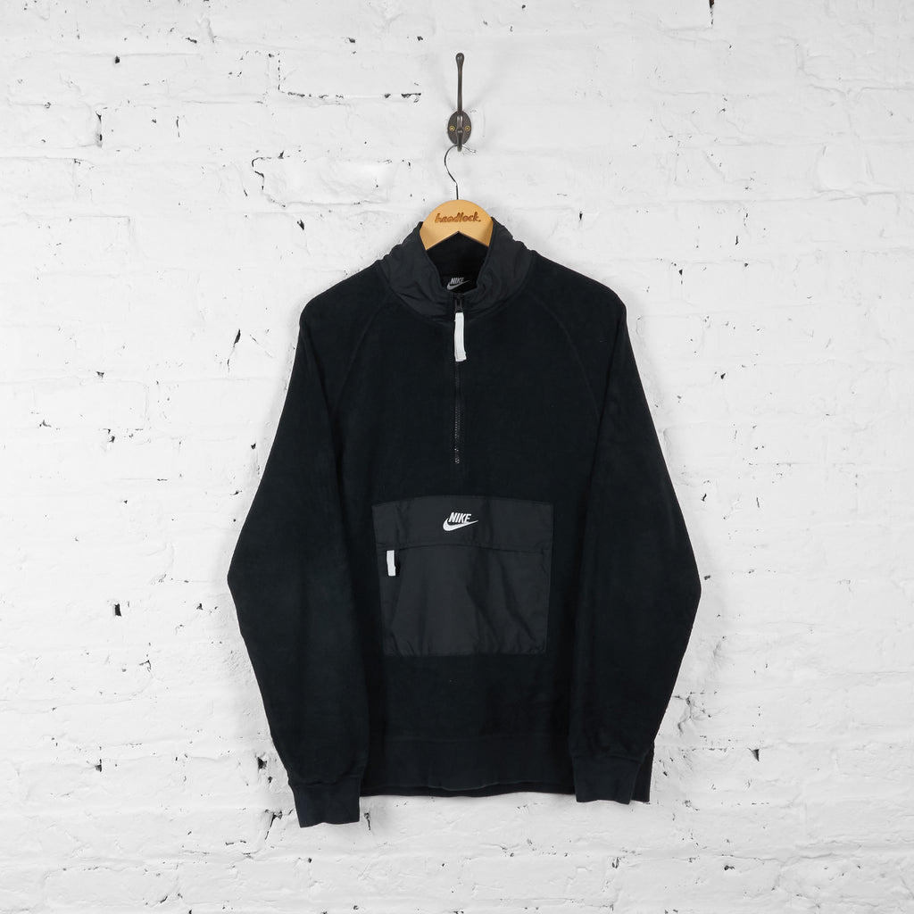 Vintage Nike 1/4 Zip Up Fleece - Black - L