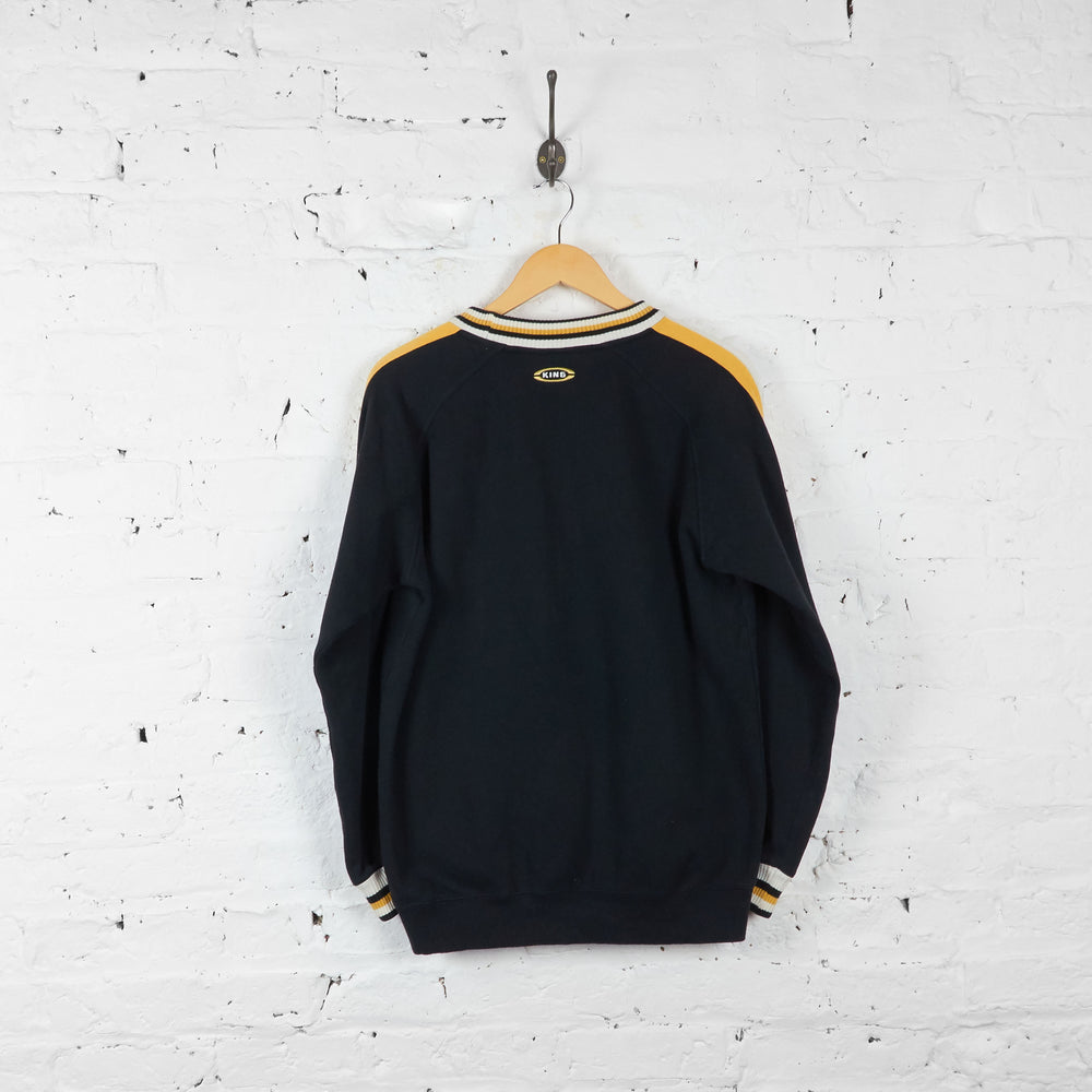 Vintage Puma Sweatshirt - Black/Yellow/White - M