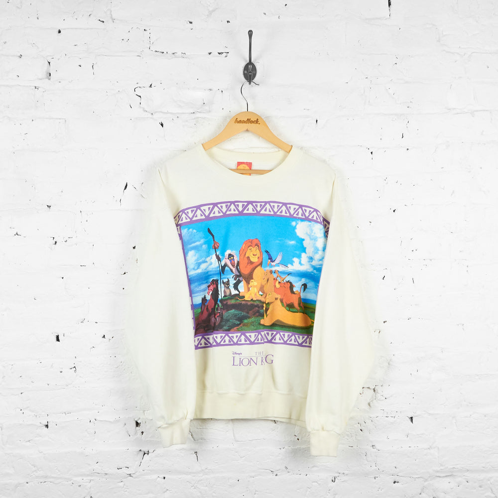 Vintage Lion King Sweatshirt - White - L