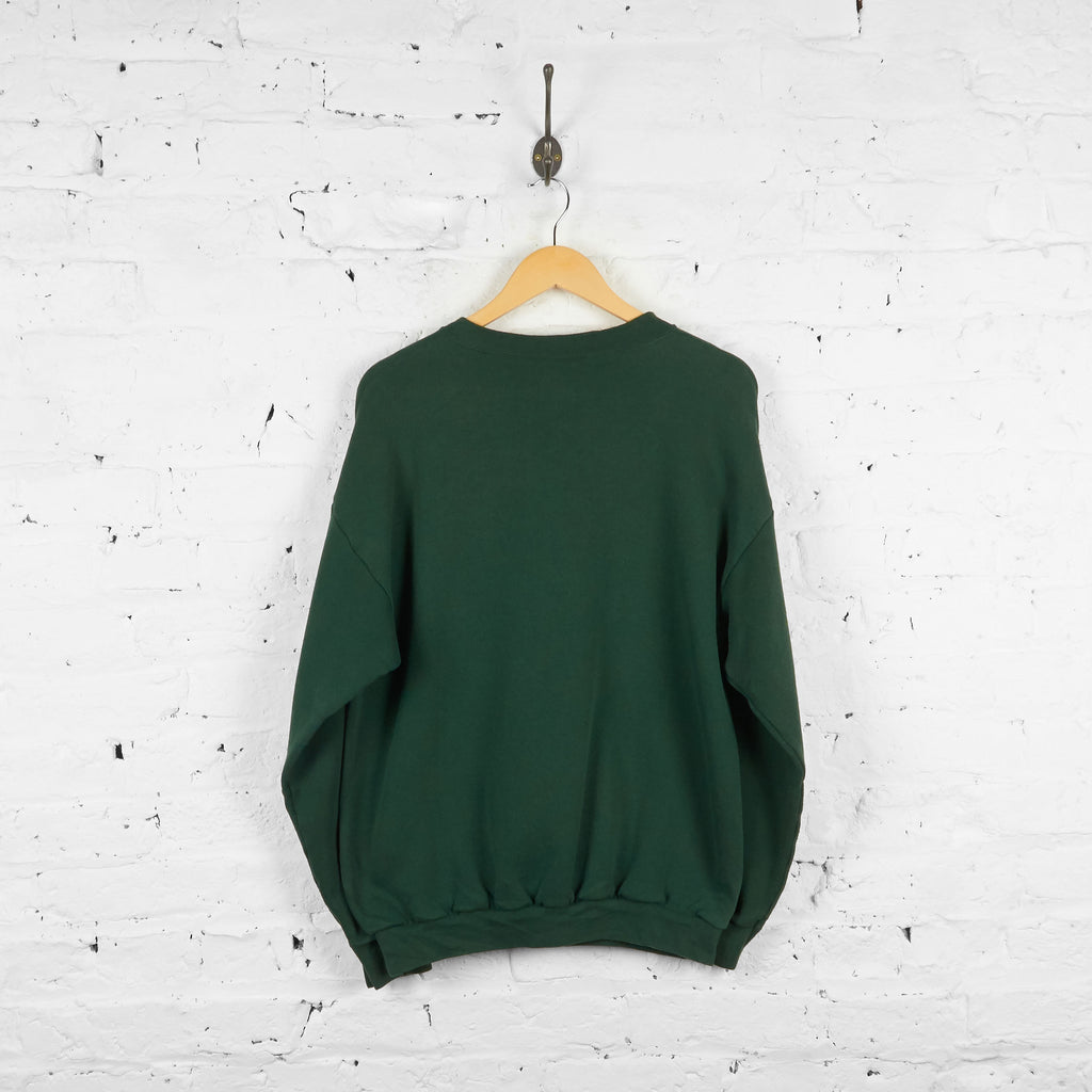 Vintage Green Bay Packers Sweatshirt - Green - L