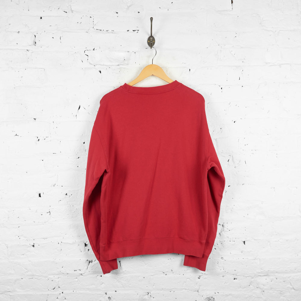 Vintage Fila Sweatshirt - Red - XL