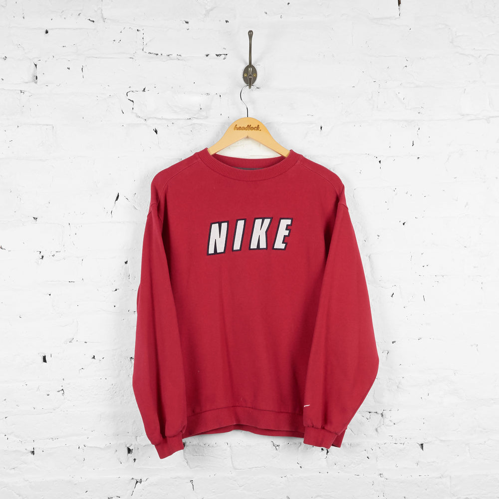 Vintage Nike Sweatshirt - Red - M