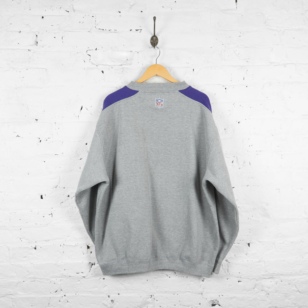 Vintage Minnesota Vikings NFL Sweatshirt - Grey/Purple - XXL
