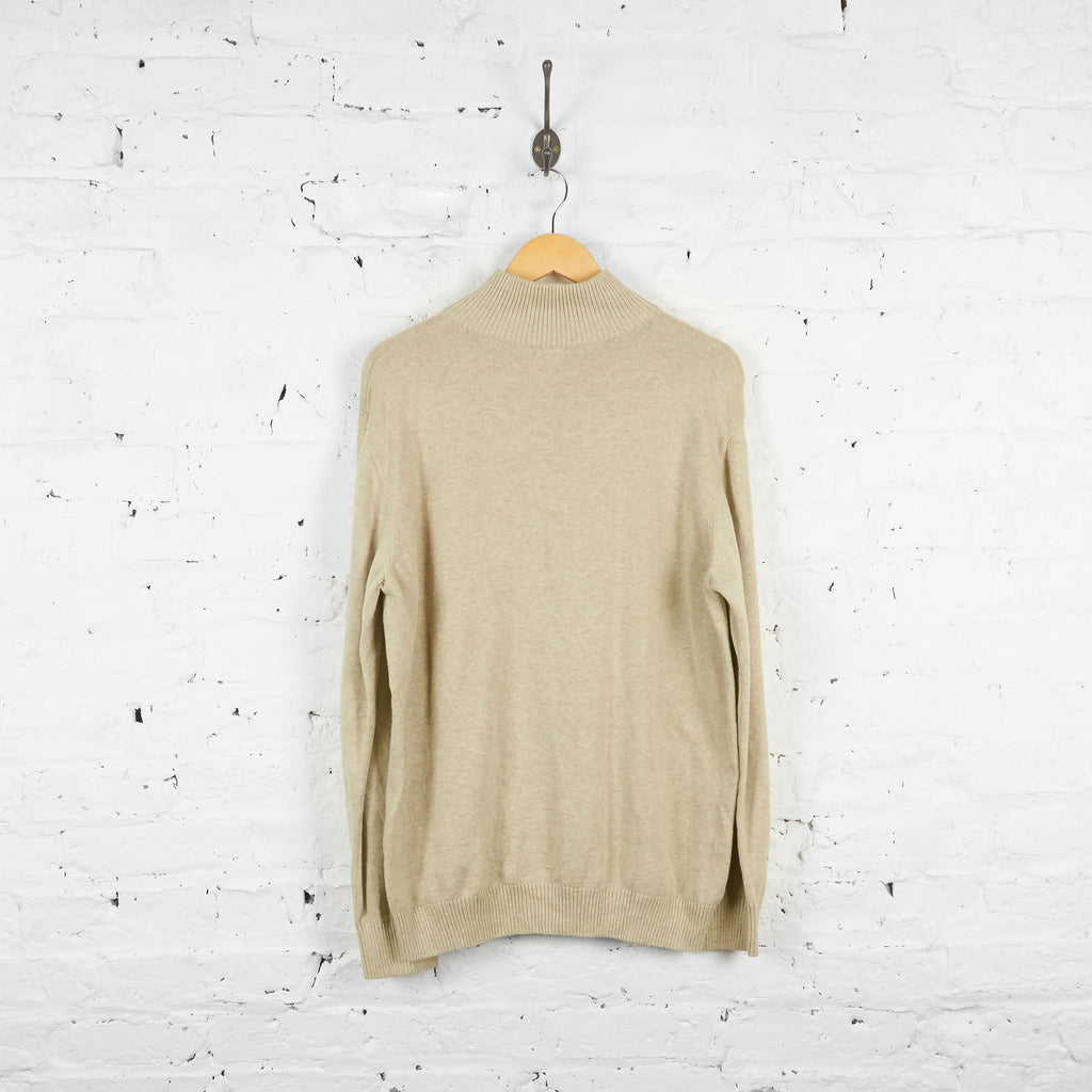 Vintage Lacoste 1/4 Zip Up Jumper - Cream - M