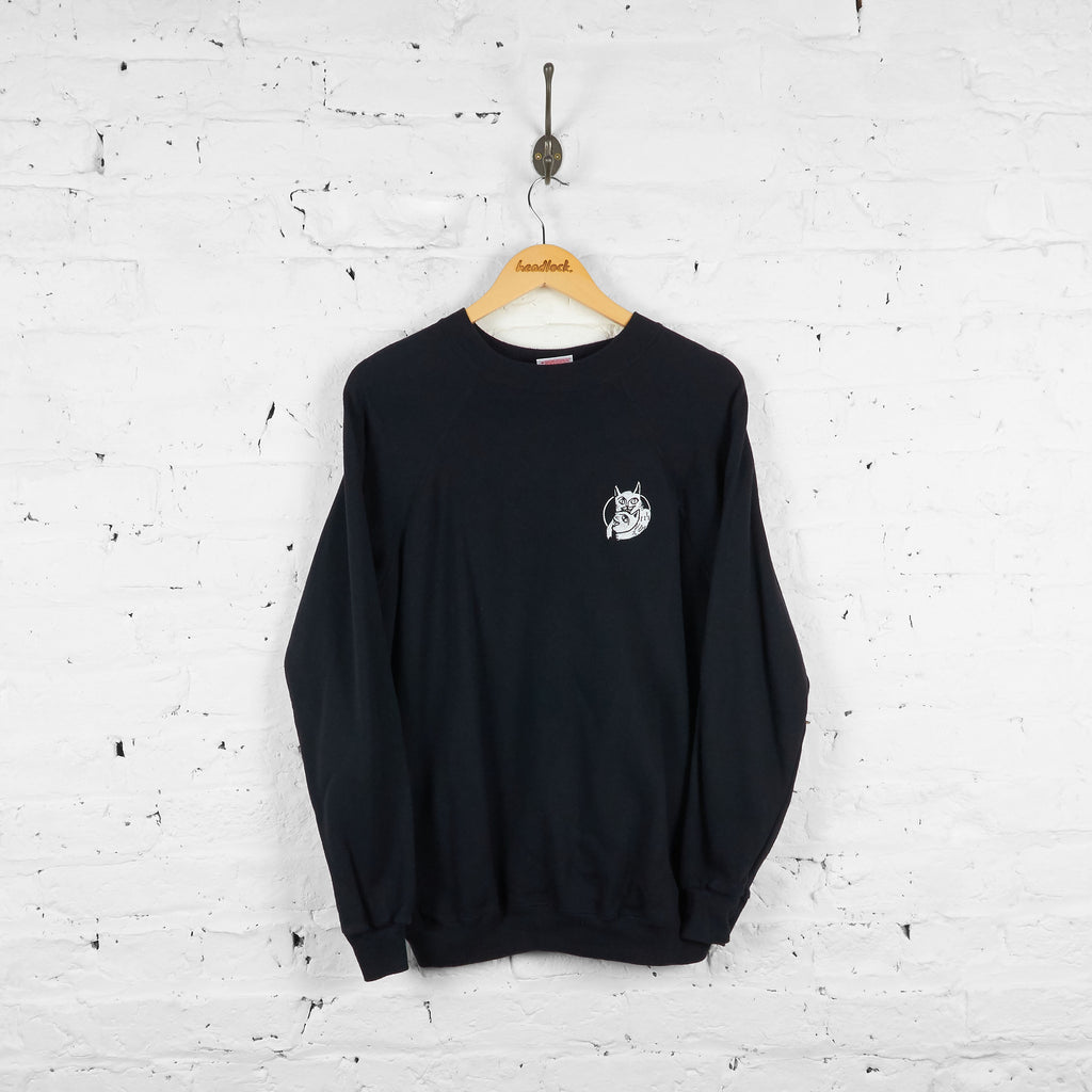 Vintage Reworked Headlock Cats Sweatshirt - Black - L