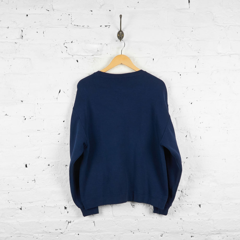 Vintage Reworked Headlock Cats Sweatshirt - Navy - M