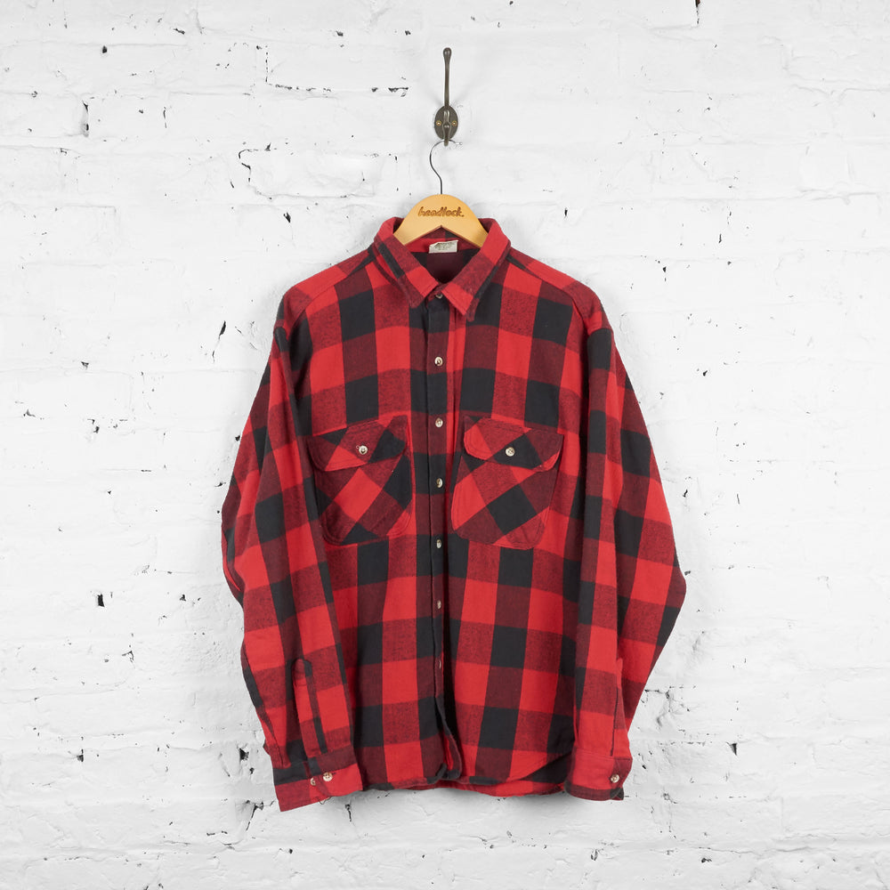 Vintage Flannel Shirt - Red/Black - XL