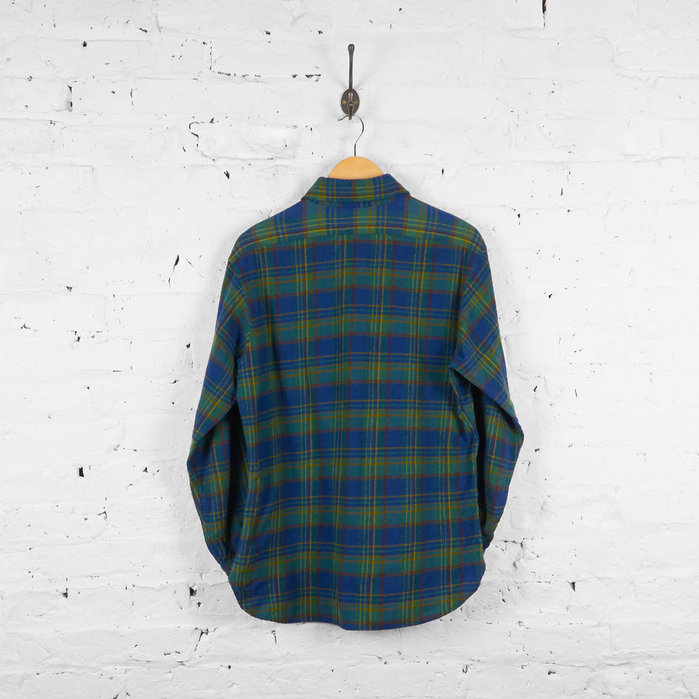 Vintage Pendleton Wool Checked Shirt - Blue/Black - L