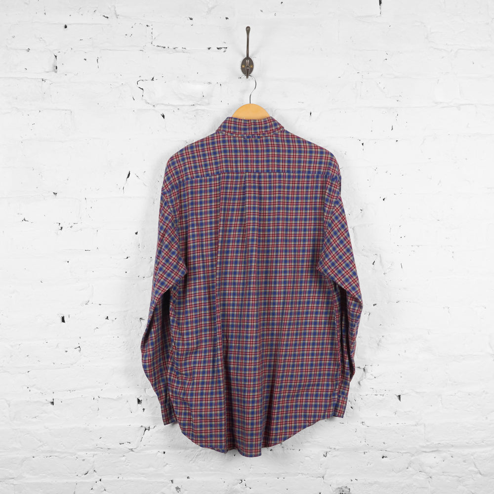 Vintage Tommy Hilfiger Checked Shirt - Red/Blue - L