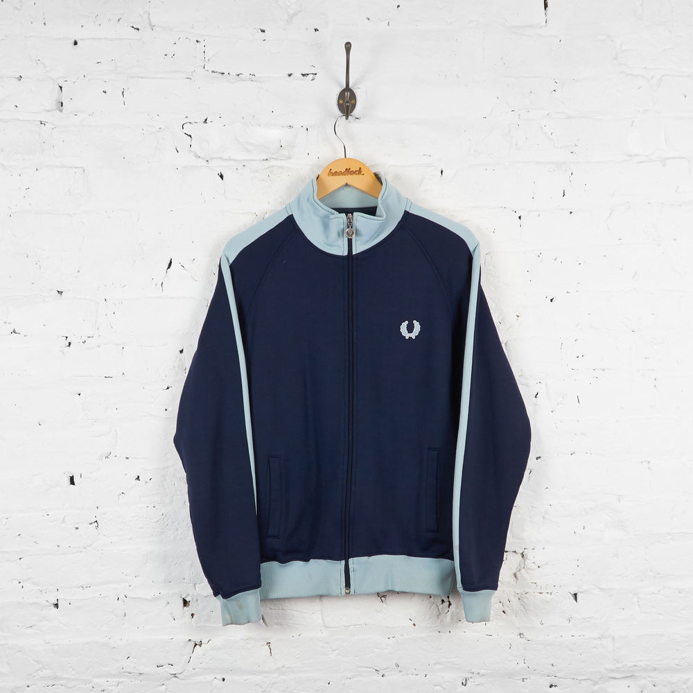Vintage Fred Perry Tracksuit Top - Navy - L
