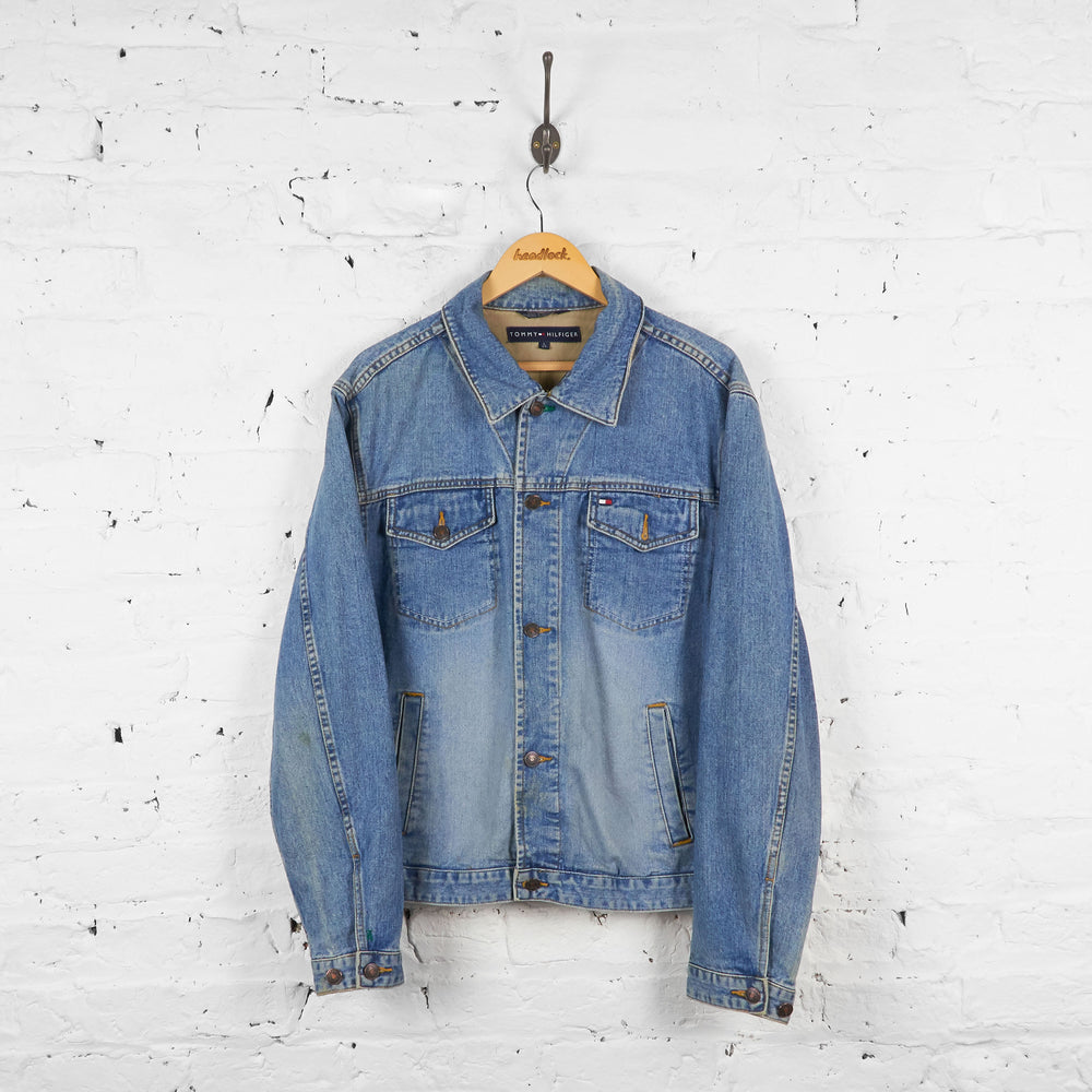 Vintage Tommy Hilfiger Denim Jacket - Blue - L