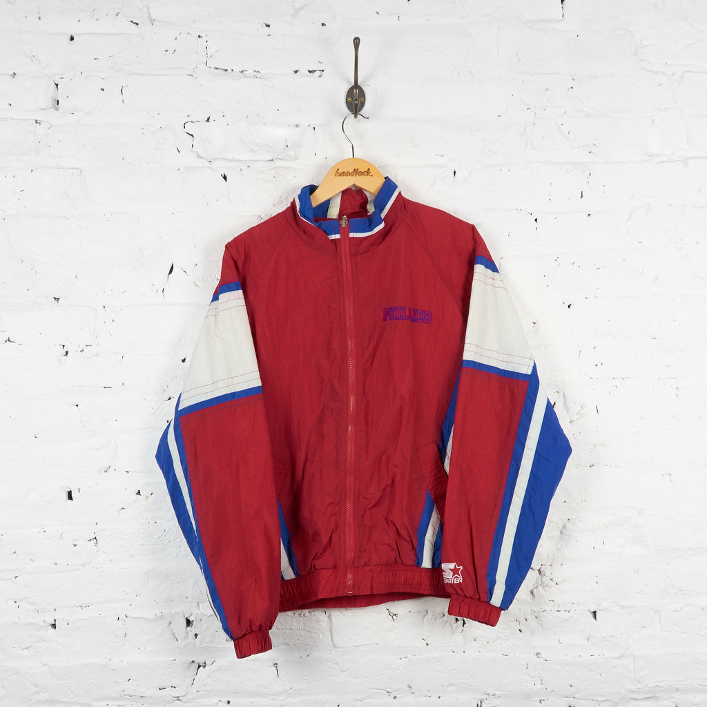 Vintage Phillies Baseball Shell Jacket - Red/Blue/White - XL