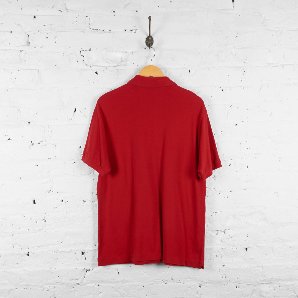 Vintage Lacoste Polo Shirt - Red - L