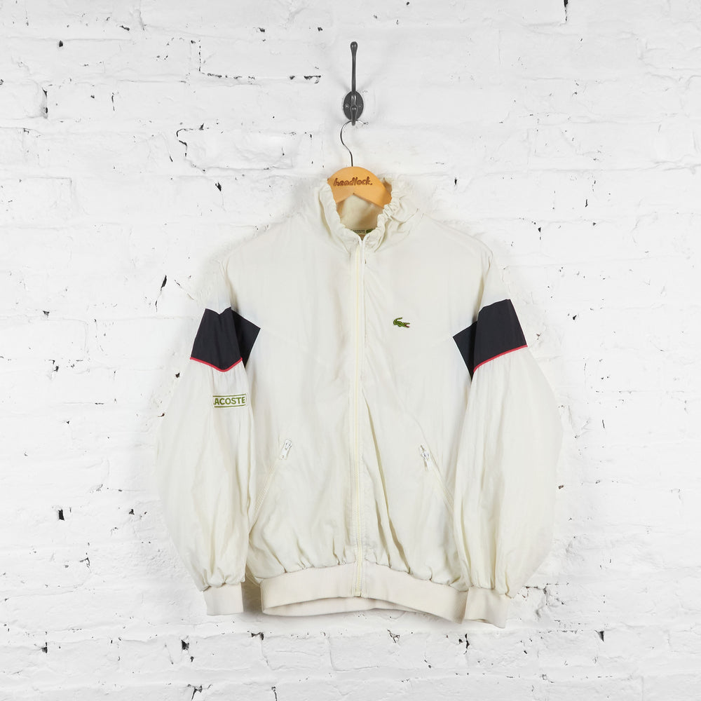 Vintage Lacoste Shell Jacket - White/Black - S