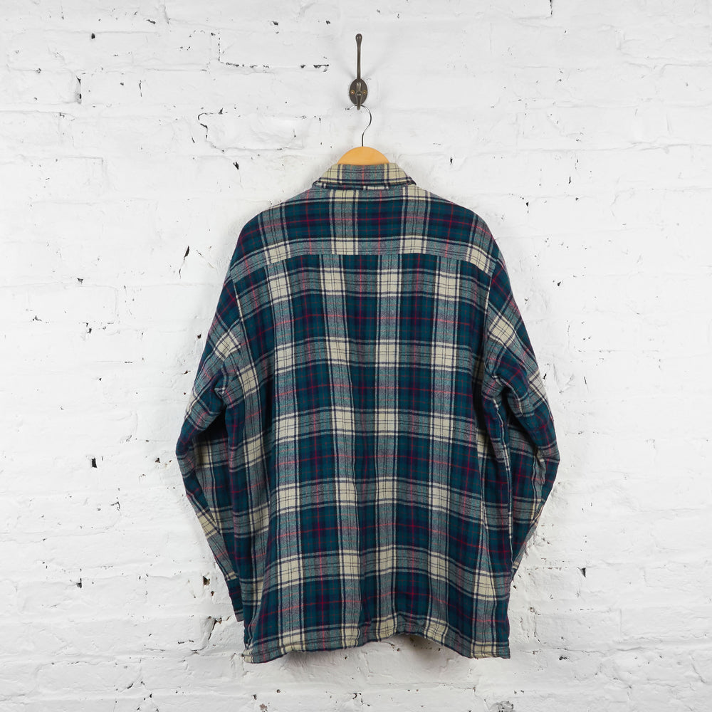 Vintage Flannel Shirt - Blue/Green - XL