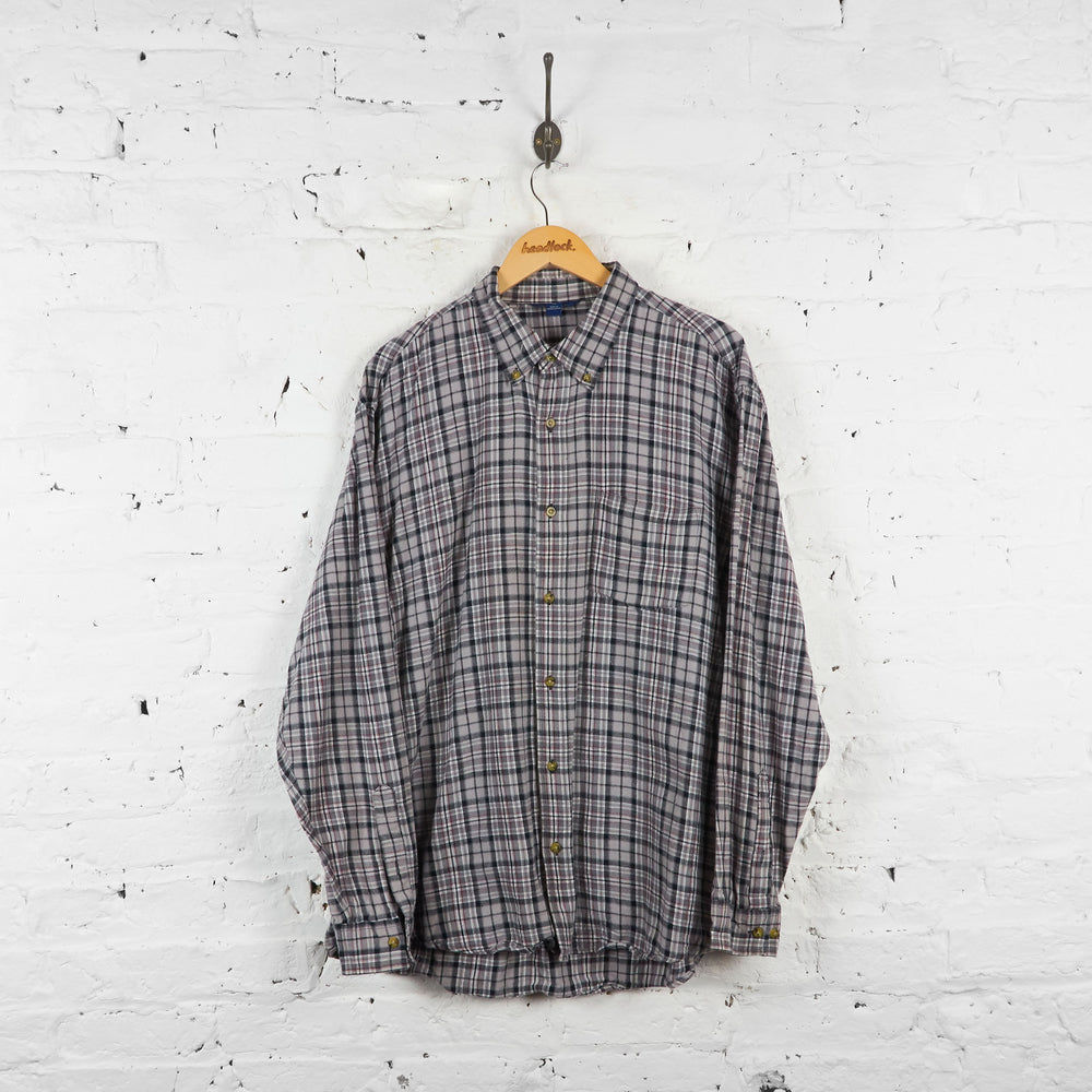 Vintage Flannel Shirt - Grey - XL