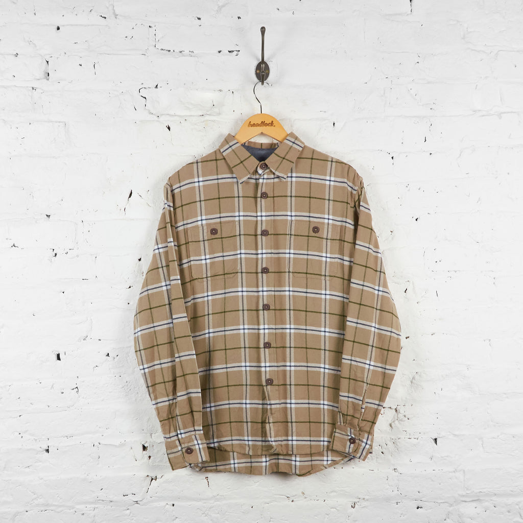 Vintage Wrangler Flannel Shirt - Brown - M