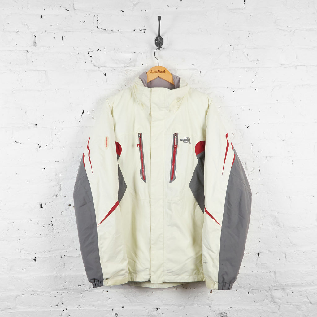 Vintage The North Face Recco Avalanche Rescue Jacket - Cream/Grey - XL