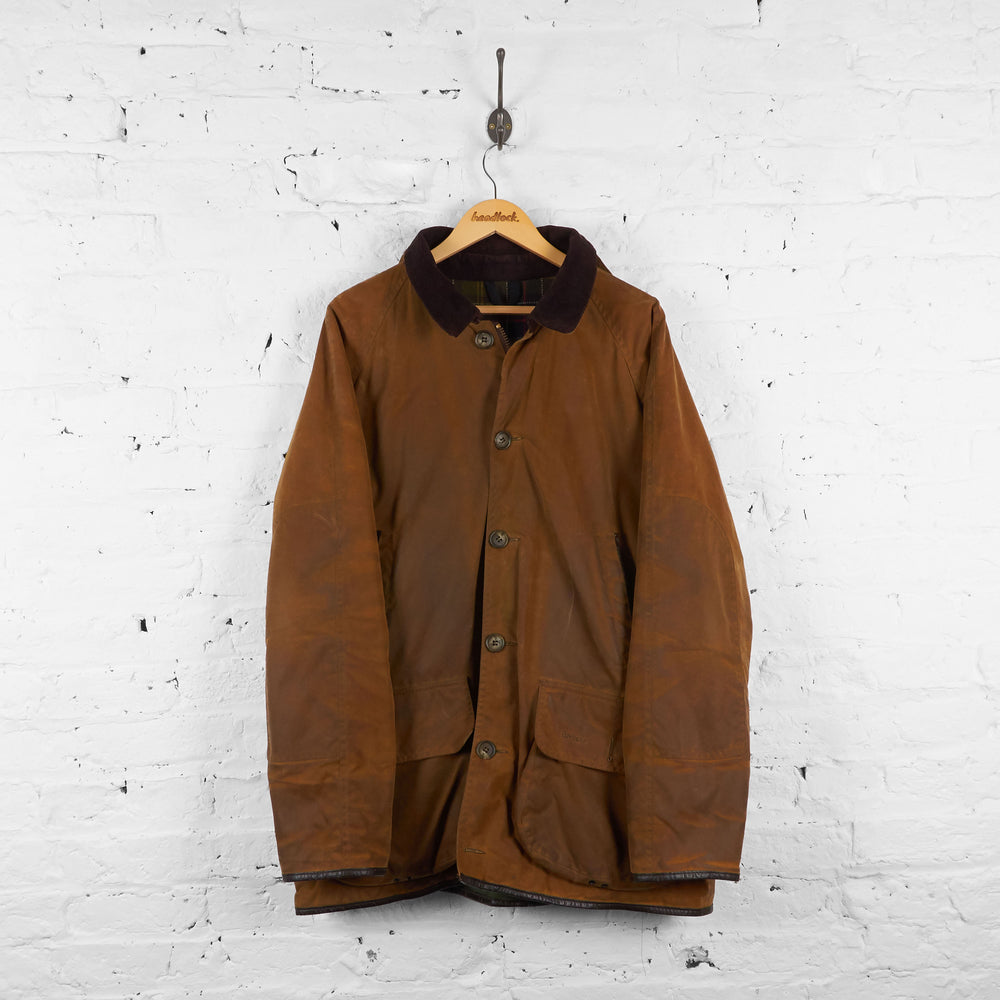 Vintage Collared Barbour Beauchamp Jacket - Brown - XL