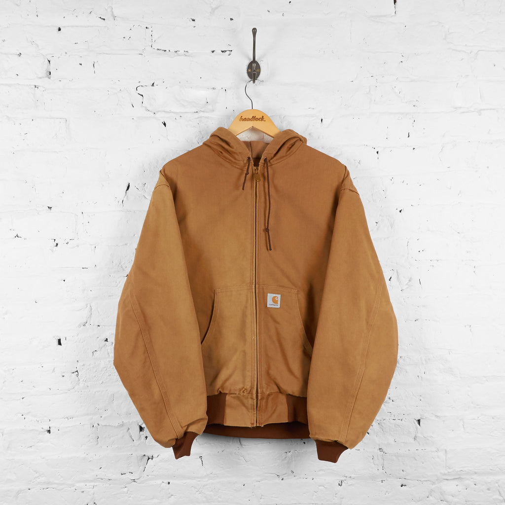 Vintage Hooded Carhartt Jacket - Brown - XL