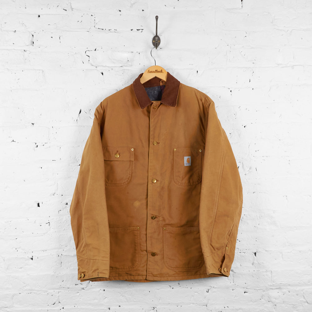 Vintage Collared Carhartt Jacket - Brown - XXL