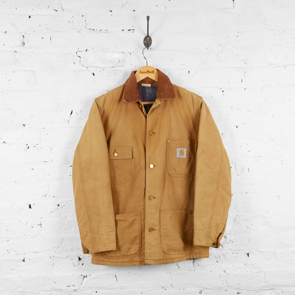Vintage Collared Carhartt Jacket - Brown - M