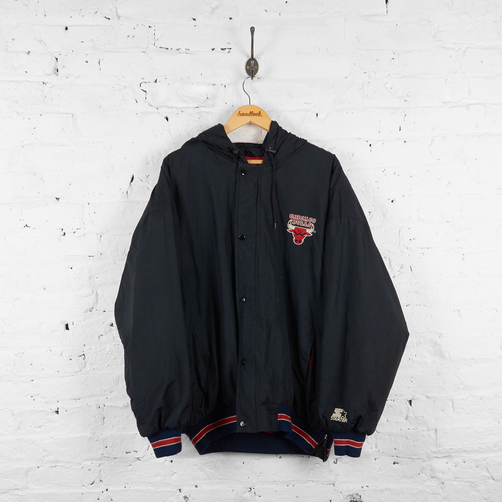 Vintage Chicago Bulls Padded Jacket - Black - XL