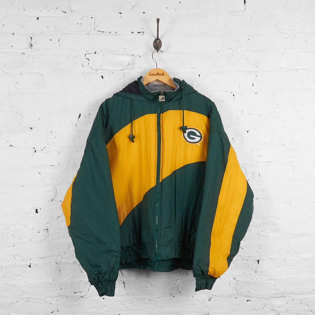 Vintage Green Bay Packers Padded Starter Jacket - Green/Yellow - XL