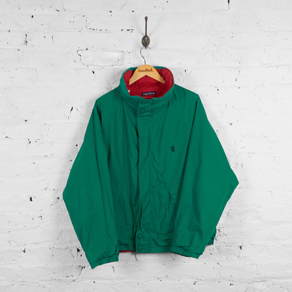 Vintage Nautica Reversible Jacket - Green/Red/White - L