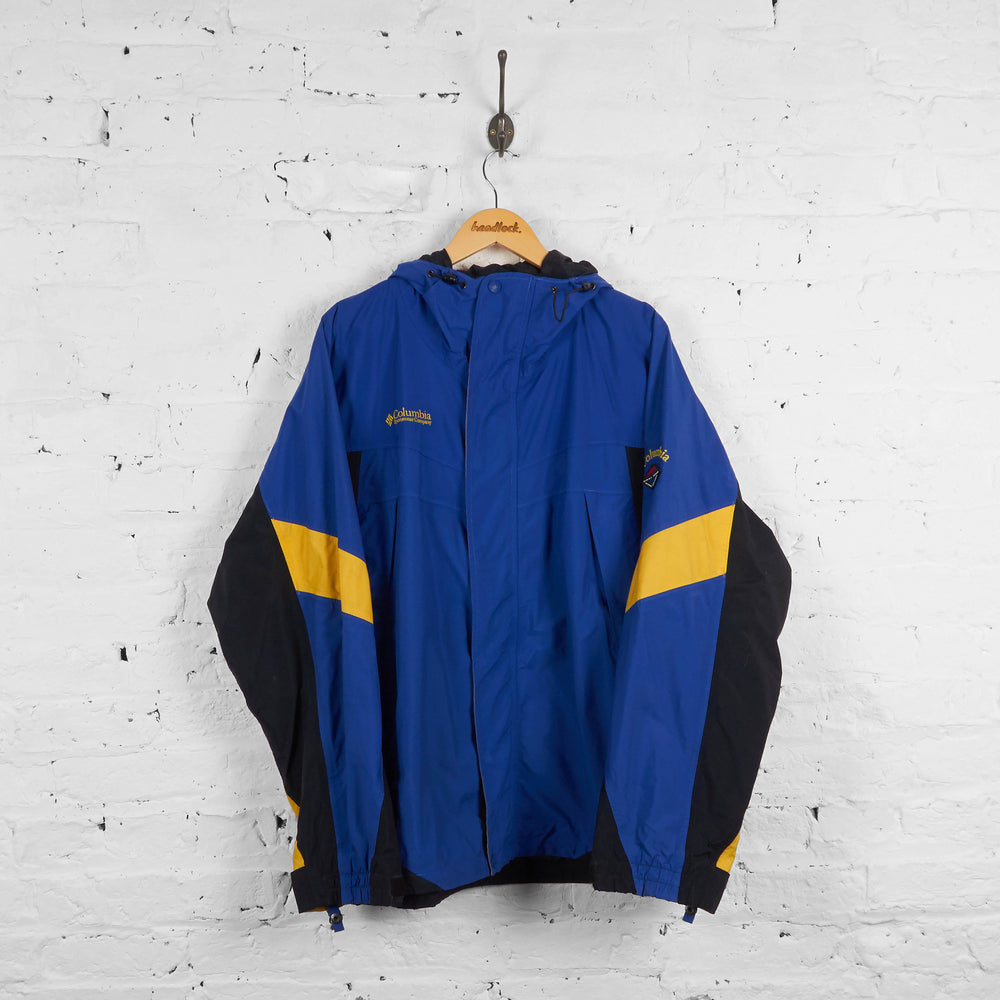 Vintage Columbia Jacket - Blue/Black/Yellow - L