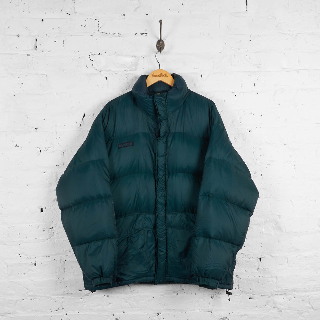 Vintage Columbia Puffa Jacket - Green - L