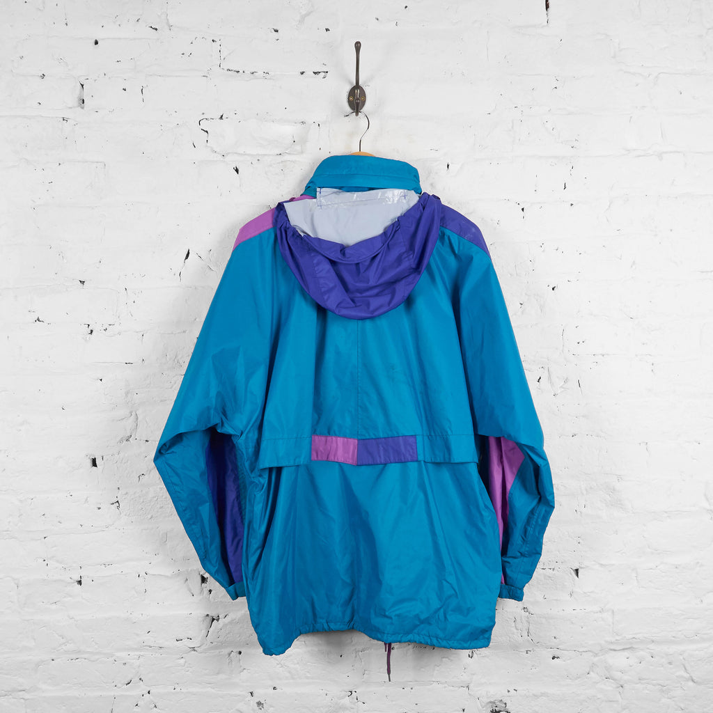 Vintage K-Way Shell Jacket - Blue/Purple - L