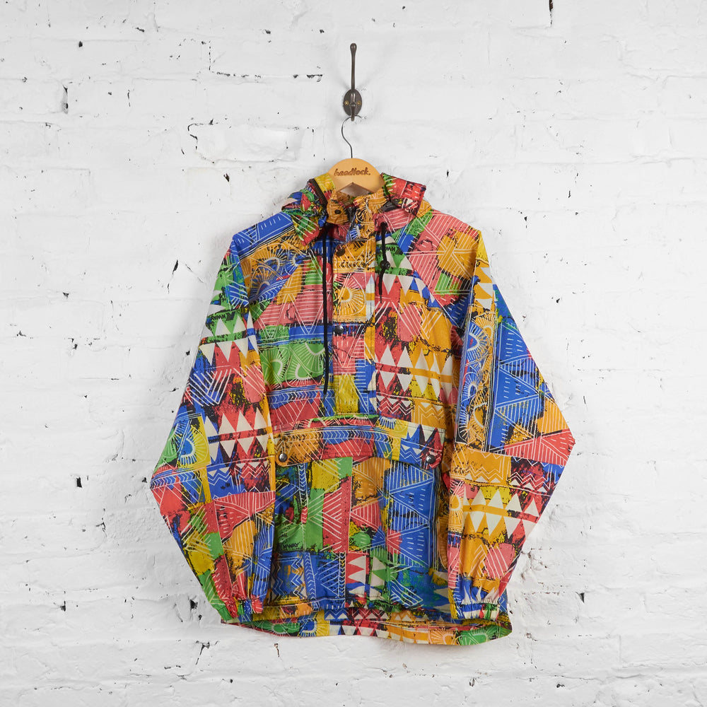 Vintage K-Way Patterned Cagoule 1/4 Up Jacket - Multi-colour -M